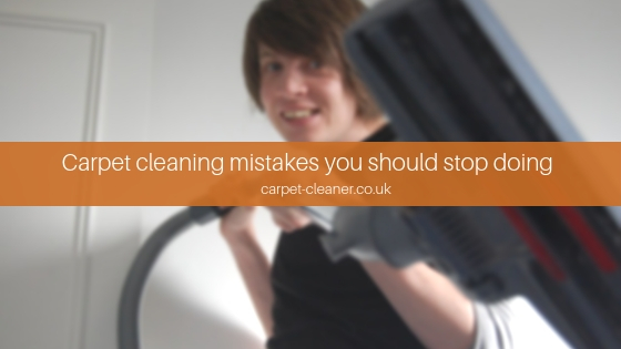 Five Major Carpet Cleaning Mistakes You Should Stop Doing Right Now